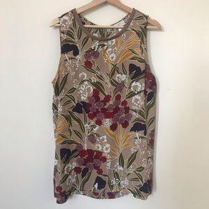 Loft Floral Print Shell Blouse